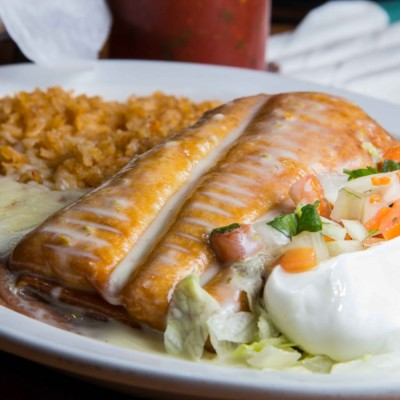Steak or Chicken Chimichanga